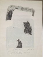 "William Perez #477 (SL) NFS>> ""El buen gusto,"" N.D. Linoleum print edition 4 of 6. 20 x 14.5 inches."