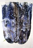 "Kadir (Kadir López Nieves) #2896. ""Invierno,"" 1998. Watercolor on paper. 36 x 24 inches. SOLD!"