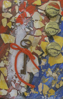 Remberto Ramirez #5271-25. Untitled, 2010. Mixed media on canvas. 8 x 5.5 inches.