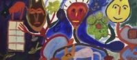 Wayacón (Julián Espinosa) #5099. Untitled, N.D. Acrylic on canvas. 37.5 x 17 inches