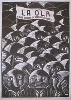 "Luis Lamothe #5244.""La Ola,"" 2009. Lithograph print.30 x 20 Inches."