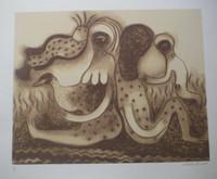 Mendive (Manuel Mendive) #5961A. untitled, 2009. Serigraph print edition 58/100. 19.5 x 23.5 inches.