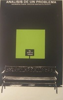 """Azcuy (René Azcuy Cardenas) """"Analisis de un Problema,"""" N.D. Silkscreen. 30 x 20 inches."""