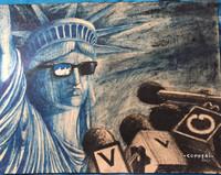 Copperi (Luis Alberto Perez Copperi)  #6815. Untitled, 2017. Mixed media on craft paper. 12 x 16 Inches.