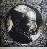 Blanco Lopez #597. Untitled, N.D. Woodcut print. 14.5 x 21.5 inches.