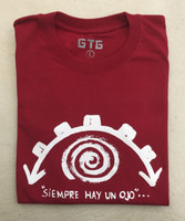 Cotton signature tee from GTG gallery in red #423F. Size XL (think L)