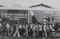 "Mayito (Mario García Joya) #145. ""Mi mejor homenaje,"" Havana 1976.  15.75 x 19.75 inches. Signed and dated 1978"