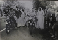 """Mayito (Mario García Joya) #146. NFS> """"Niurka and Sergios wedding,"""" Havana 1979. 9.75 x 6.50 inches."""