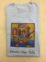 Cotton Fuster tee Shirt size large.