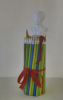 "Juan Karlos Echeverria Franco, Untitled, N.D. Mixed media sculpture. 12.5"" x 3.5"" (SL)"