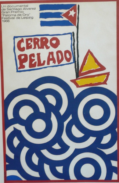 "Raul Olivia ""Cerro Pelado,"" 1966. Silk screen, 30"" X 20"""