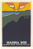 "Alfredo Rostgaard,""Madina Boe,""1969. Silk screen, 30"" X 20"""