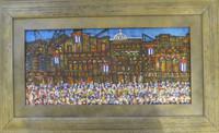 """Humberto Ramos Hernandez (D)"""" La Habana vieja,"""" 2009. Acrylic on canvas. 21"""" x 34.5."""""""