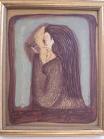 """Elsa Mora  """"El otro lado,"""" 1998. Mixed media. 11"""" x 9."""""""