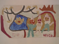Wayacon  #2605-2. Acrylic on paper bag.