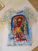 Wayacon  #1.   Untitled, N.D. Acrylic on cotton tee shirt.