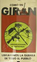 """Trutie, DOR PCC STGO. """"Como en Giron,"""" 1985. Silkscreen print. 29 x 17.5 inches."""