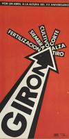 """Artist Unknown (OR) """"Poron, un Abril a la altura del XX aniversario, GirN.D. Ofset print. 21.5 x 11 inches."""