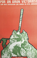 "Artist Unknown (COR PCC OTC)  ""Por un Giron victorioso,""  N.D. Offset print. 25 x 18.5 inches."