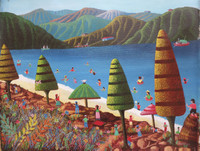"""Magnolia Betancourt #5687. """"Todo al agua,""""2013. Oil on canvas. 16 x 20 inches."""