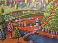 "Magnolia Betancourt #6168. ""Rocolactoras,"" 2016. Acrylic on canvas. 19.5 x 25.5 inches."