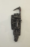 Carlos Cesar Román #6228. Untitled, N.D. Mixed media, found objects. 29 x 8 inches.