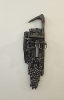 Carlos Cesar Roman #6228. Untitled, N.D. Mixed media, found objects. 29 x 8 inches.