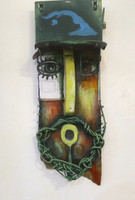 Carlos Cesar Roman #6229 Untitled, 2014. Mixed media, found objectsl. 21 x 7.75 x 4 inches.