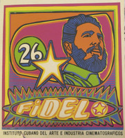 "SOLD! Raul Martinez #102 ""Fidel,"" 1968. Silkscreen print. 21.5 x 19 1/ 4 inches."