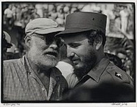 Roberto Salas, Ernest Hemingway meets Fidel Castro in Cuba during a fishing competition that Hemingway has sponsored. 1960.