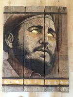 Sáenz (Jorge César Sáenz Gómez) #6219 Untitled, 2016. Mixed media on wood. 31.5 x 24 inches.