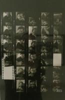 Korda (Alberto Díaz Gutiérrez) Contact sheet of Fidel playing chess, ND.  11.5 x 7.5 inches. NFS