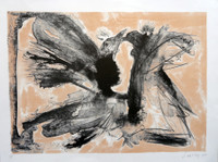 "Alberto Lescay #6247. ""Pajaros,"" 2010. Lithograph print edition 5 of 22.  16 x 21.5 inches."