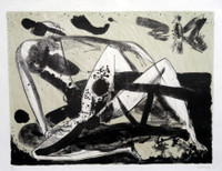 "SOLD! Alberto Lescay #6244. ""Vuelo de amor,"" 2011. Lithograph print edition 14 of 20. 17 x 22 inches."