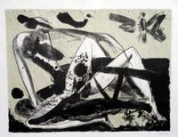 """Alberto Lescay #6244. """"Vuelo de amor,"""" 2011. Lithograph print edition 14 of 20. 17 x 22 inches."""