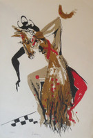 Lescay (Alberto Lescay Merencio) #7064. Untitled, 2002. Lithograph print edition 62 of 100.   12.5 x 8.5 inches