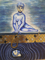 Jacqueline Brito  #6115 Untitled, 2015. Mixed media/ Ceramic and oil on canvas. 10 x 8 inches