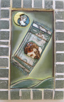 Jacqueline Brito  #6117  Untitled, 2015. Mixed media/oil on canvas, wood and ceramic. 7.5 x 5 inches.