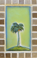 Jacqueline Brito  #6116 Untitled, 2015. Mixed media/ oil on canvas, wood and ceramic.  7.5 x 5 inches
