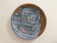 Julia Valdez #6537 Untitled, N.D. Ceramic plate. 9.5 inches diameter.
