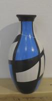 Azariel Santander #6517 Ceramic vase from Trinidad de Cuba. 10 x 5 inches.