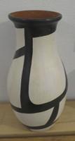 Azariel Santander #6523 Ceramic vase from Trinidad de Cuba. 9.5 x 5 inches.