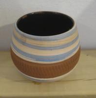 Azariel Santander #6525B  Ceramic vase from Trinidad de Cuba. 3 x 3.5 inches