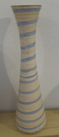 Azariel Santander #6526  Ceramic vase from Trinidad de Cuba. 11.5 x 3.5 inches.  SOLD!