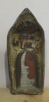 "Fuster (José Rodríguez Fuster) #6509  """"Solo la luz,"" N.D. Glazed clay sculpture. 9.5 x 2 inches."