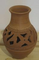 Azariel Santander #6579  (SL)  Ceramic vase from Trinidad de Cuba.