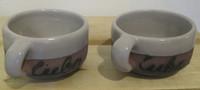 Azariel Santander #6556  Ceramic cup from Trinidad de Cuba. 1.75 x 3.5 inches.