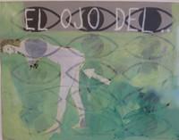 """Cocina al minuto"", Carlos Cardenas #5609. 1988. Acrylic on paper, framed 26"" x 31""."