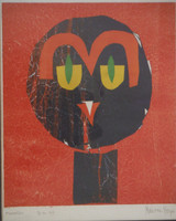 Nestor Vega  #2376  Untitled, 1999. Monotype print. 13.5 x 10.5 inches.