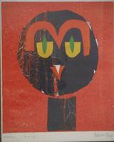 Nestor Vega  #2376  Untitled, 1999. Monotype print. 13.5 x 10.5 inches.